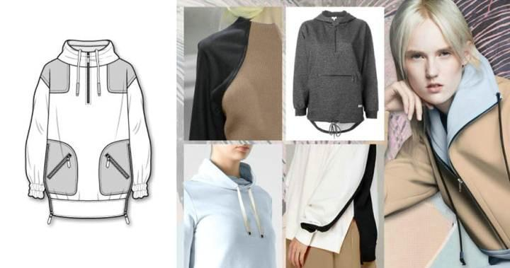 运动风外套款式-女装设计-服装设计