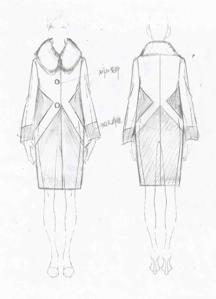 上衣外套手稿-女装设计-服装设计