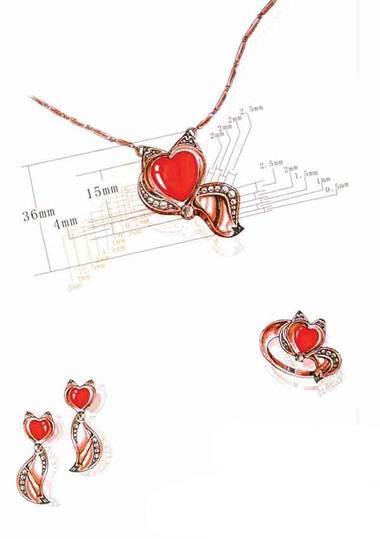 珠宝配饰手稿-鞋帽配饰设计-服装设计