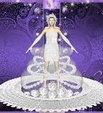 【玫瑰】水晶玫瑰撑圈创意婚纱