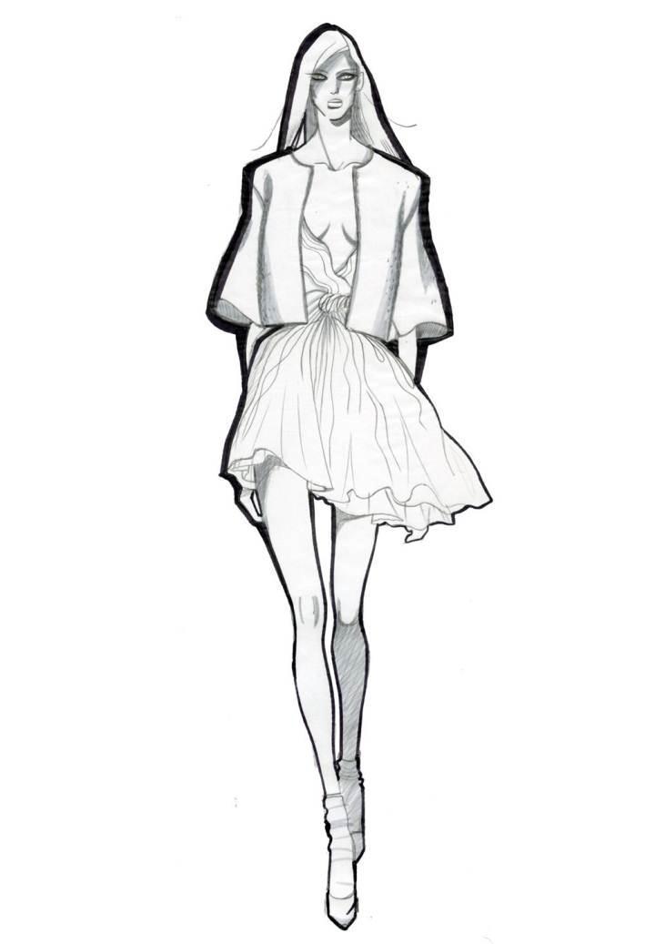 时装效果图搜集-女装设计-服装设计