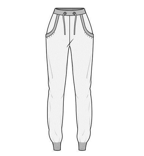休闲运动款裤子-女装设计-服装设计