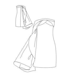 小礼服款式图-婚纱礼服设计-服装设计-服装设计网手机