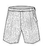 休闲短裤款式图