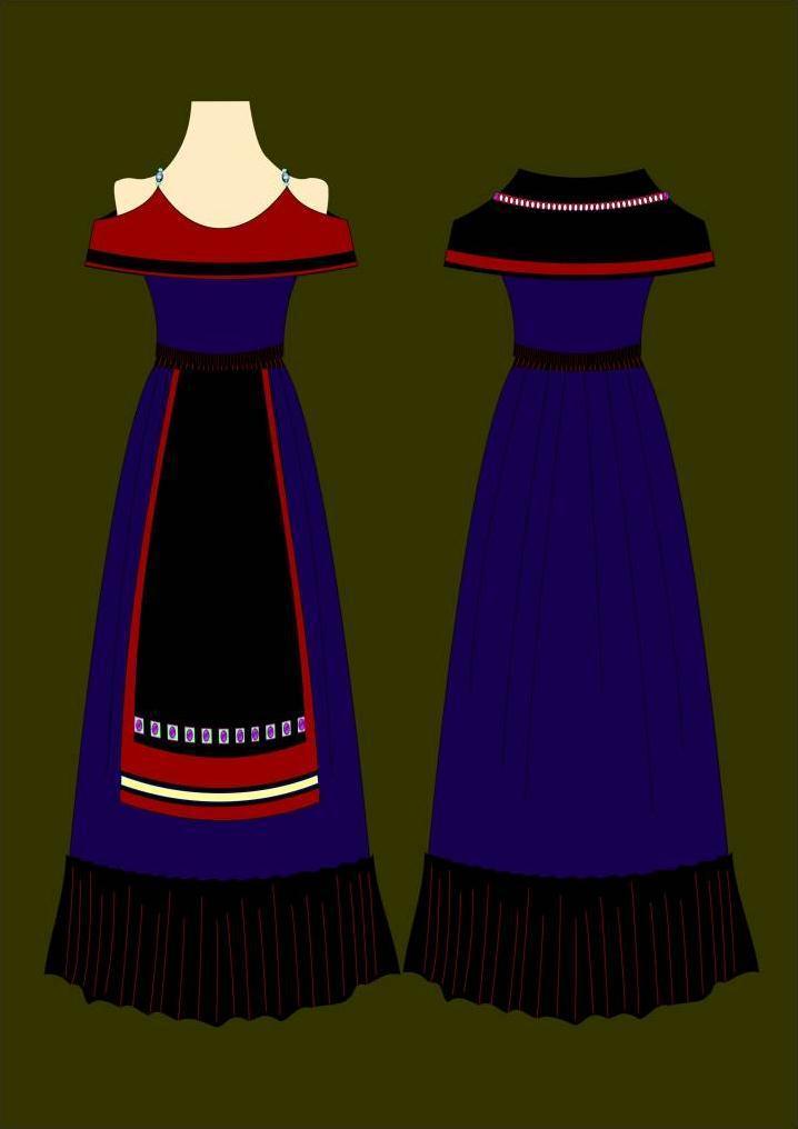 复古民族风-女装设计-服装设计