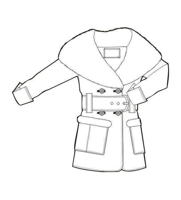 大衣款式图作品-大衣款式图款式图