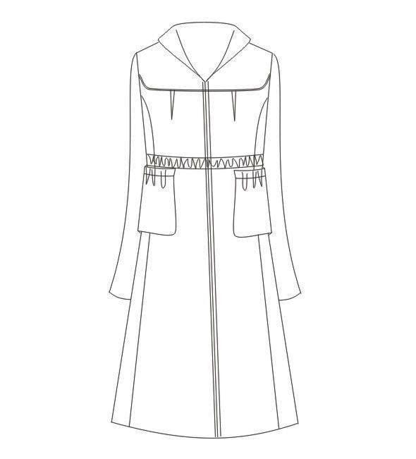 大衣款式图-女装设计-服装设计
