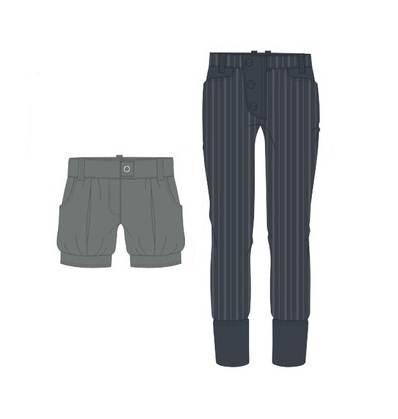 休闲裤作品-休闲裤款式图