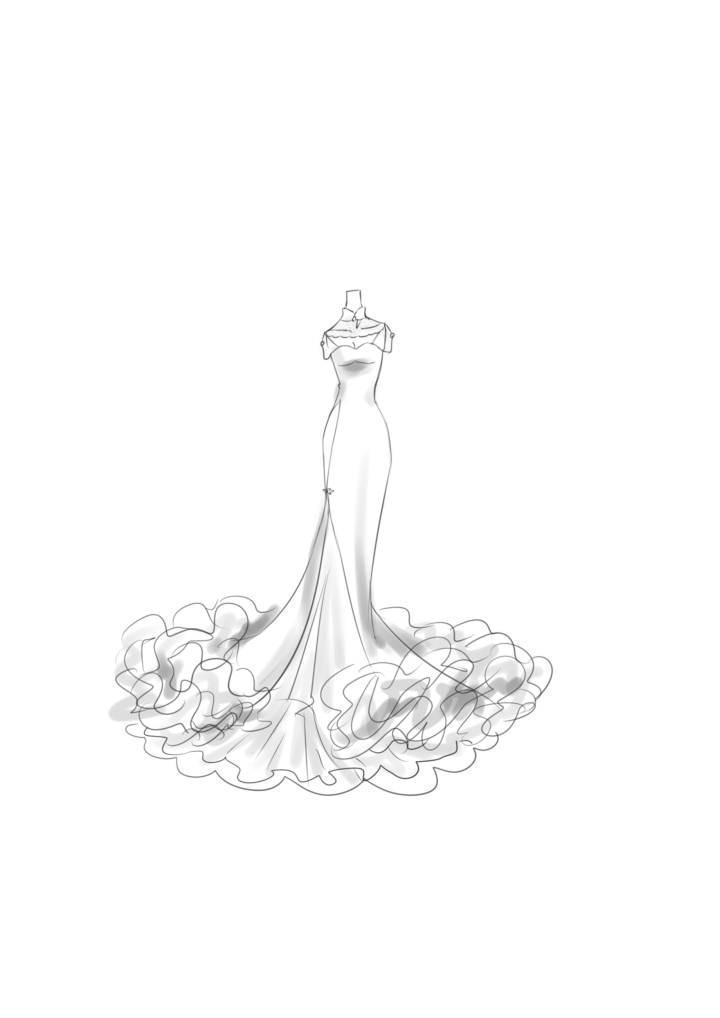 古风礼服 旗袍式-婚纱礼服设计-服装设计
