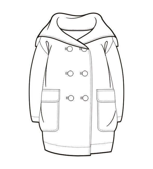 秋冬大衣款式图-女装设计-服装设计