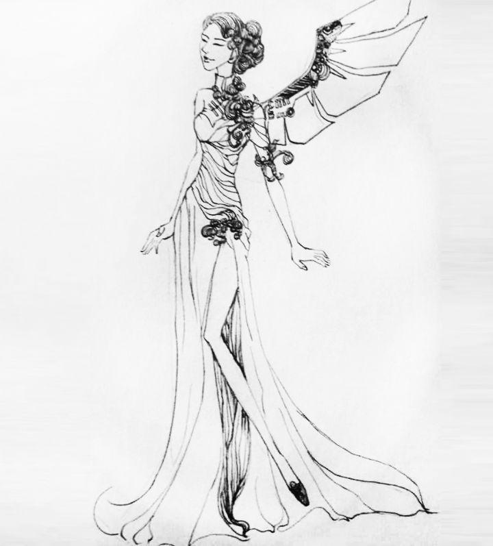 复古 套装 2-婚纱礼服设计-服装设计