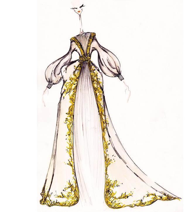 复古礼裙-婚纱礼服设计-服装设计