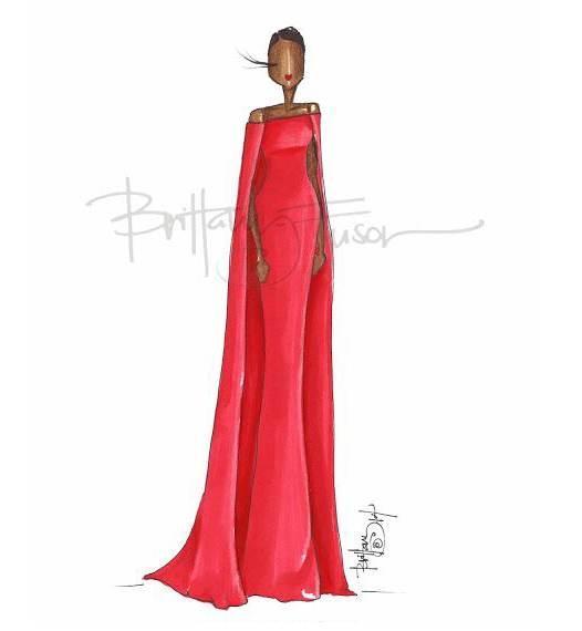 晚礼服图稿-婚纱礼服设计-服装设计