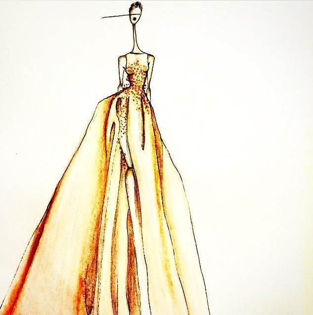 晚礼服手稿采集-婚纱礼服设计-服装设计