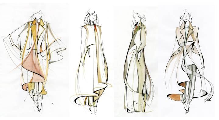 马克笔手稿采集-女装设计-服装设计