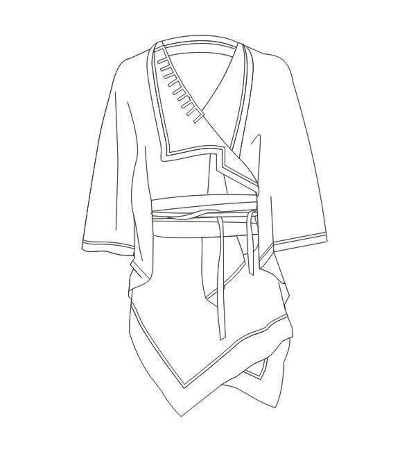 外套款式图-女装设计-服装设计