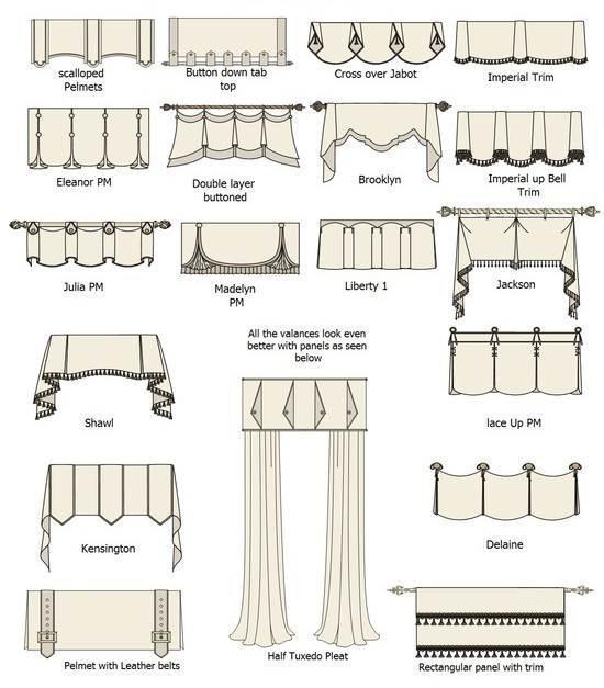 窗帘样式-家纺系列设计-服装设计