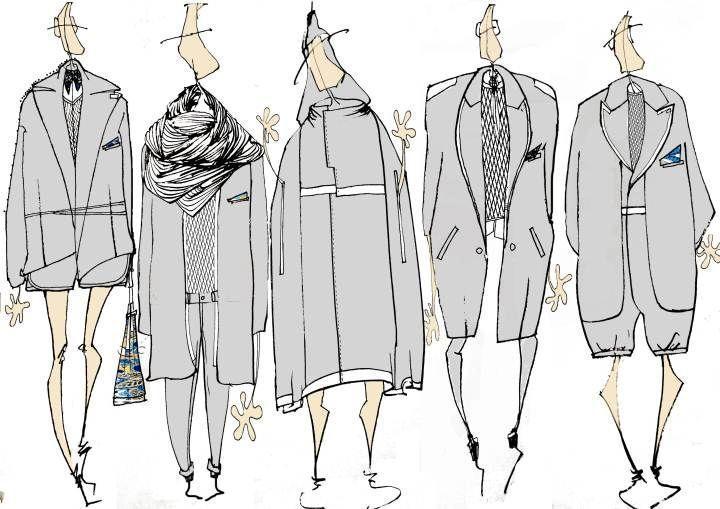 坠落-男装设计-服装设计
