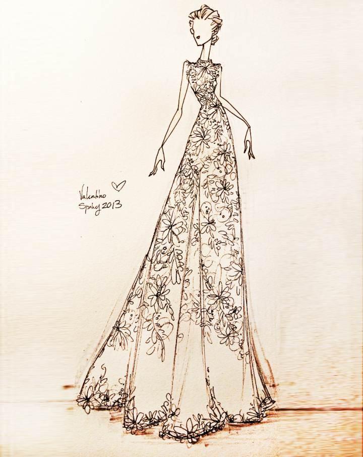 手稿礼服-婚纱礼服设计-服装设计
