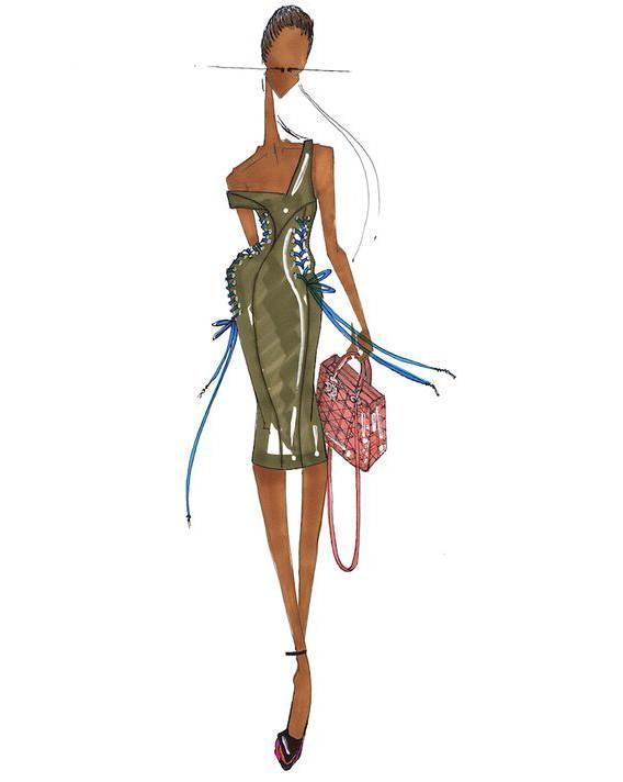 马克笔礼服搜集-婚纱礼服设计-服装设计