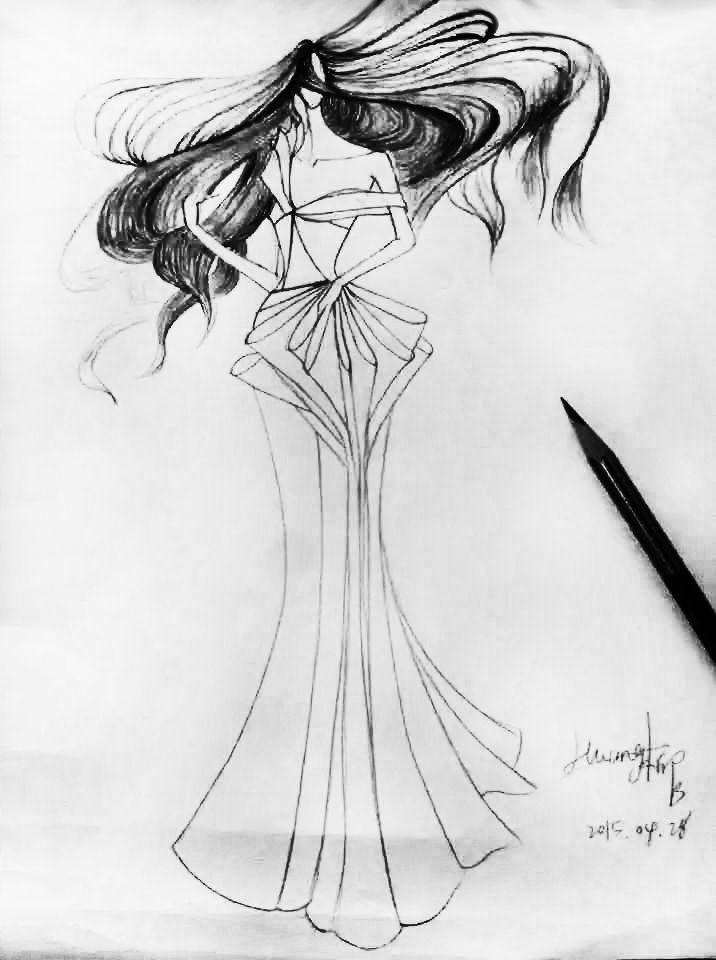 蝶舞迷香-婚纱礼服设计-服装设计