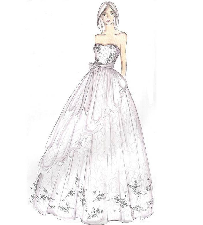 婚纱手稿搜集-婚纱礼服设计-服装设计