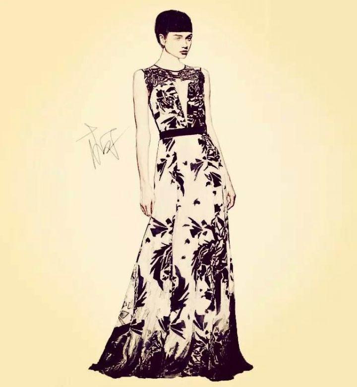 黑白礼服-婚纱礼服设计-服装设计
