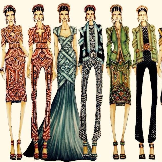 复古系列-女装设计-服装设计