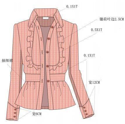 衬衫外套款式图搜集