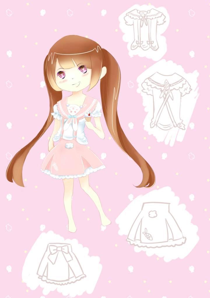 兔兔连衣裙-童装设计-服装设计