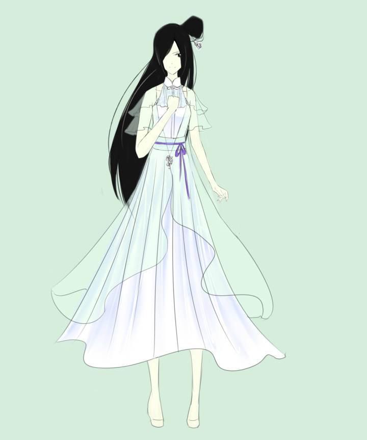 古风长裙类-女装设计-服装设计