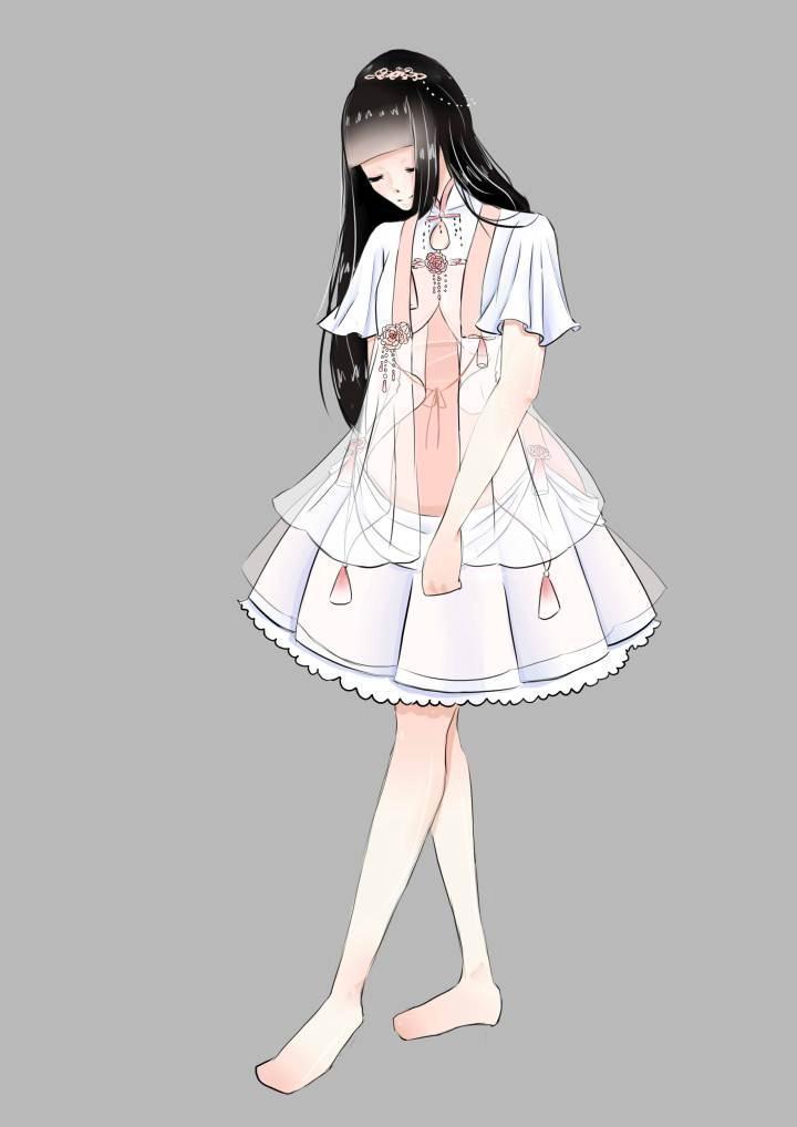 古风lo2-婚纱礼服设计-服装设计