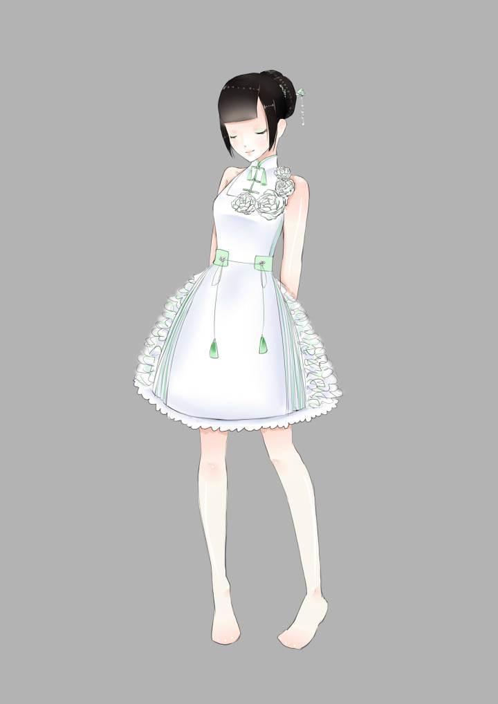 古风lo4-婚纱礼服设计-服装设计