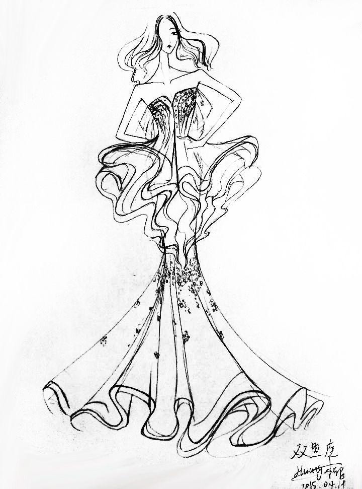 双鱼座-婚纱礼服设计-服装设计