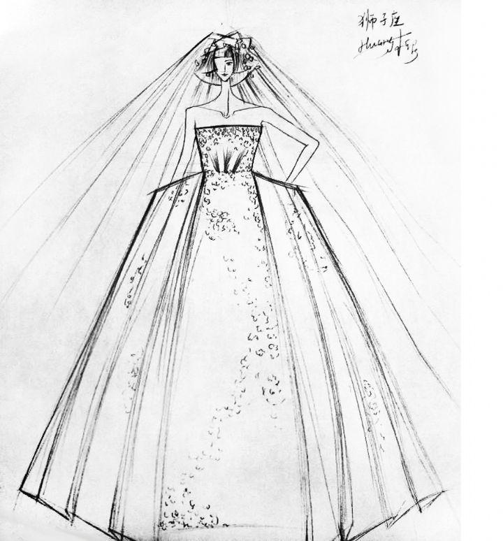 狮子座-婚纱礼服设计-服装设计