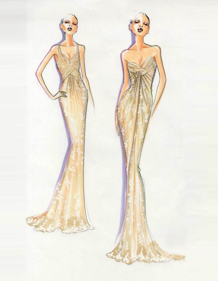 晚礼服设计图片-衣服设计图片手绘图片/服装设计手绘图片大全/礼服