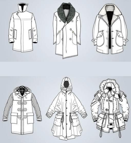 大衣款式图集