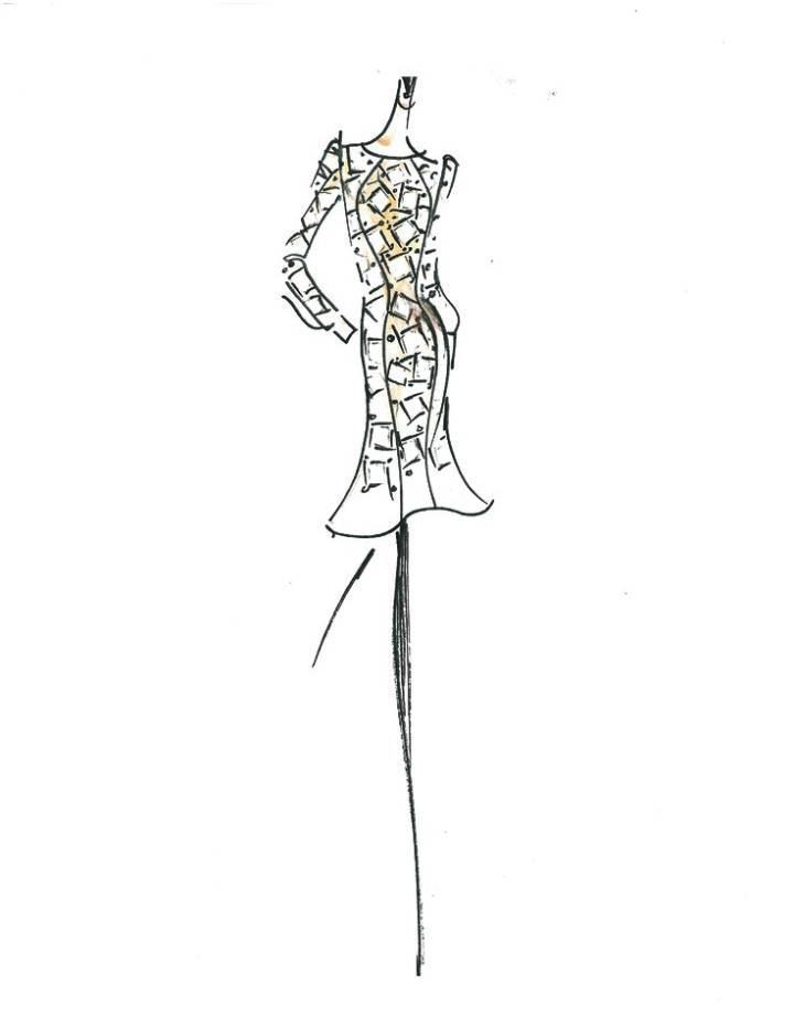 连衣裙手稿