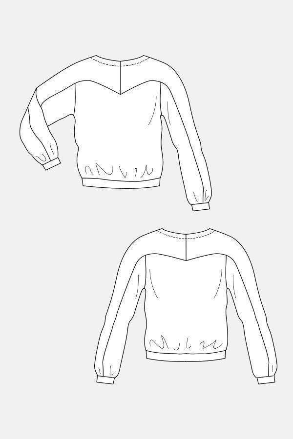 卫衣款式图-女装设计-服装设计