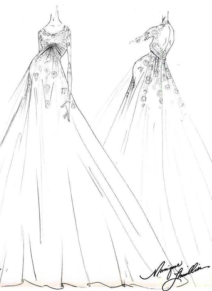 孕妇婚纱手稿搜集
