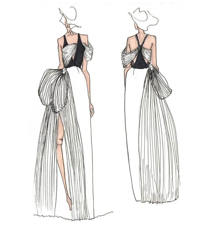 礼服手稿作品-礼服手稿款式图