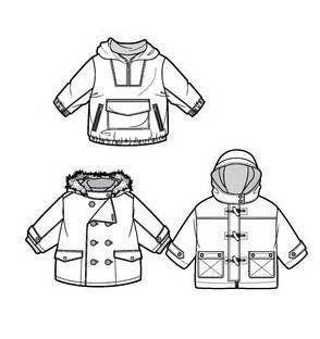 童装外套款式-童装设计-服装设计