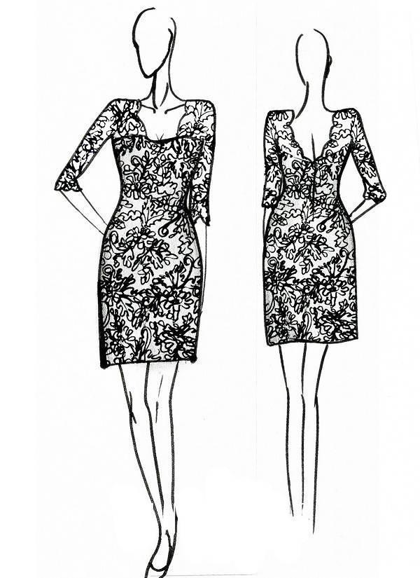 蕾丝连衣裙-女装设计-服装设计