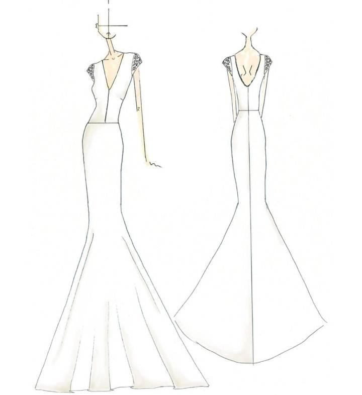 晚礼服手稿搜集-婚纱礼服设计-服装设计