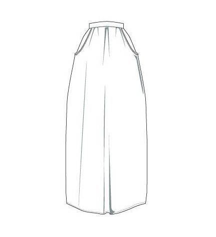 半身长裙款式图图片