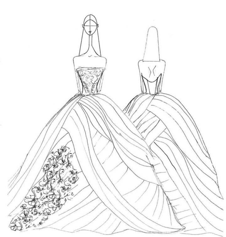 婚纱手稿搜集