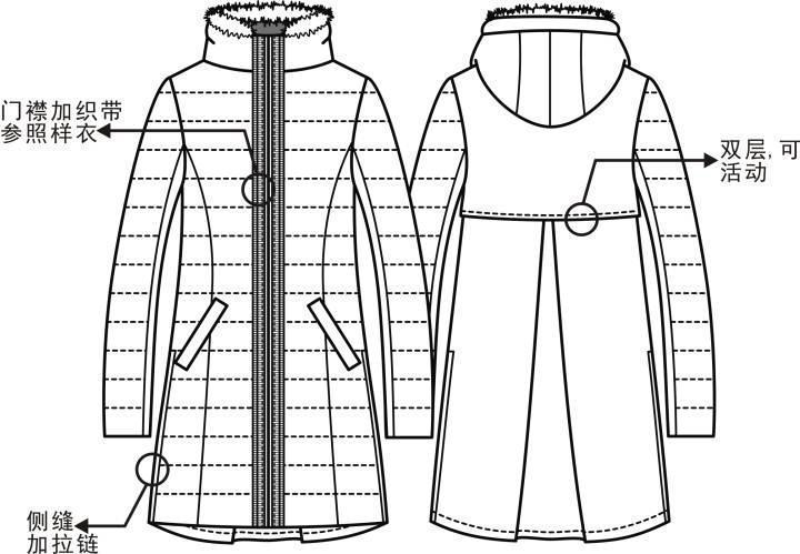 软件绘制羽绒服款式图-女装设计-服装设计