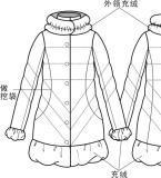 羽绒服款式图