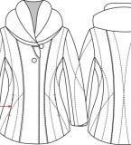 软件绘制羽绒服款式图