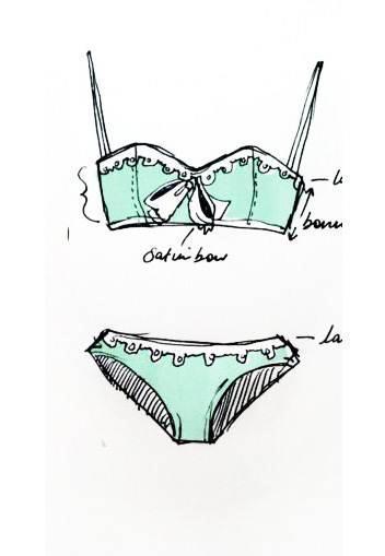 泳装手绘-内衣/家居设计-服装设计